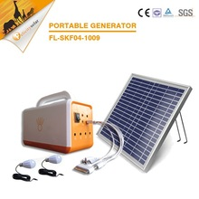 Safe clean off-grid PV electro energy generator portable solar power system for home use
