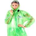 Pvc transparent clair imperméable. longue piste style femmes filles manteau de pluie