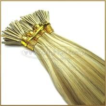 Virgin Straight Human Hair Yellow I Tip Hair Extension Wholesale
