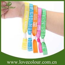 Custom plastic lock wristband full color printing event fabric wristband