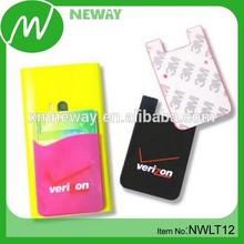 Back Side 3M Adhesive Silicone Smart Card Pocket