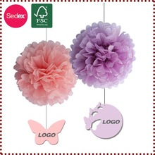Hanging Tissue Paper Pom Poms, Wedding Stage Decoration