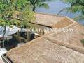 pérgolas con techo de paja