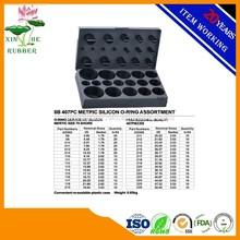8B 407PCS Metric Silicone O Ring Assortment