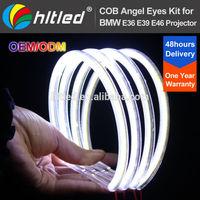 7000K Xenon White COB LED Angel Eyes Halo Ring Lighting Kit for BMW E36 E46 E38 E39 3 5 7 Series