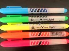 Wholesale high qualtiy popular hot sell 6 pcs opp bag highlighter pen