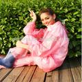 la mode féminine manteau cape de pluie imperméable transparent extérieur