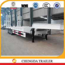 Truck trailer type standard 60 ton heavy equipment transport trailer