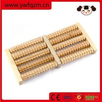 Wholesale cheap 5 rows wooden roller foot massager