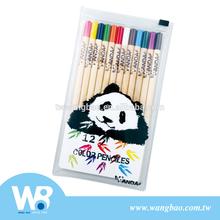 Cute panda 12pcs color pencil set
