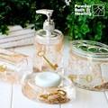 Oro de acrílico clave accesorios de baño para el producto de la promoción