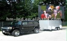 move tv 3g/gprs/gps rental truck mobile led display