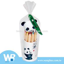 Cute panda 12pcs mini color pencil set with sharpener