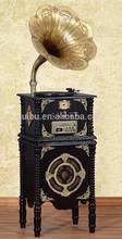 Black Walnut Modern Gramophone Record Player YM-202