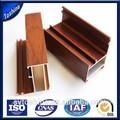 china grão de madeira armário de portas de correr de alumínio extrusões na venda