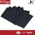 tamanho personalizado de papel cartão preto em folhas