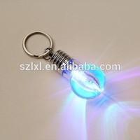 LED Multi-color Keychain in bulb shape design/LED bulb shape keychain