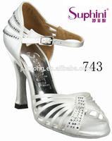 Woman White Rhinestone High Heel Wedding Shoes