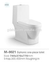 M-9021 sanitary ware bathroom siphonic toilet one piece