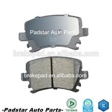 brake pad pair manufacturer in China automotive brake Jeep Semi-metallic Low-metallic Ceram D537 auto spare disc brake pad