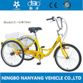 Ny-gw7001-1sp três rodas adulto triciclo a pedais de bicicletas para fazer compras