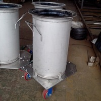 professional manufacture stainless steel milk tank with wheel