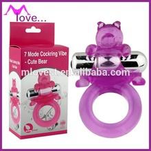 7 Mode Cockring Rings Vibe Cute Bear Vibrating Penis Rings, Sex Ring Vibrator for Women, Female Masturbation Devices