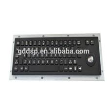 kisok vandaproof waterproof industiral metal keyboard with trackball
