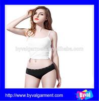 Wholesale 100% cotton lady black blank sexy briefs underwear,underwear for women