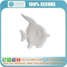 Whtie Top Grade Ceramic Fish Home Decoration WHOLESALE