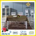 Pvc con el oro negro y blanco mantel/negro y blanco de la boda de mesa tela/corredor de la tabla