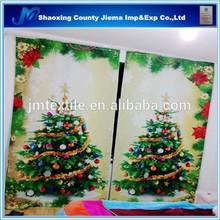 3DP CUR039 Russia fashion christmas trees 3d printing curtain