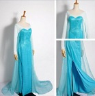 new styles cheap frozen adult frozen princess elsa costume cosplay dress S-2xl