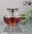 Astp343-1 set de table verre pasabahce pot avec filtre couvercle 600 ml / 20 oz irish cafetière théière