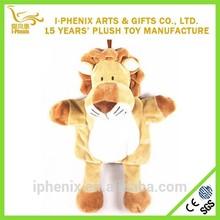 New design cute animal shape stuffed tiger custom kids plush backpack