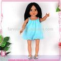 Plástico cabeça boneca com os olhos grandes apto para bonecas americanas
