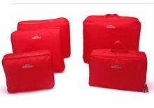 Korean Design Waterproof Traveling Clothes Packing 5pcs Bag In Bag