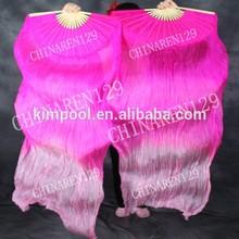 PAIRS 1.5M BELLY DANCE 100% SILK FAN VEILS PINK- LIGHT PINK belly dance silk fan veil,fan belly dance costume,silk fan belly dan