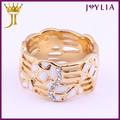 profesional fábrica de joyería de cristal de suministro de la universidad de anillos de graduación