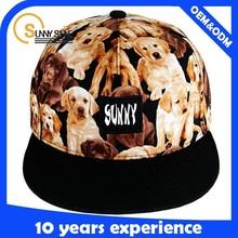 animal pattern printing baby hat snapback cap with logo