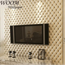 Eco-friendly leather design 3d wallpaper for home decoration