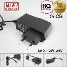 100% GUARANTEE NEW DESIGN led lighting box power supply 24v 0.5a 12v adaptor
