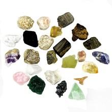 Wholesale minerals Tumbled stone specimen for education,Raw natural Rose Quartz/Amethyst/Fluorite/Tiger Eye #DOI