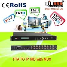 Professional satellite receiver 8 in 1 fta satellite receiver/convert/gateway