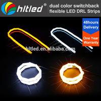 New Design SMD Flexible LED DRL Strips Switchback DRL Turn Signal Light Amber/White