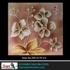 Botero reproduction oil painting Hand painted gold leaf and silver flower canvas painting