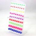Boucles d'oreilles Colle gelée fluorescentplastique très simple