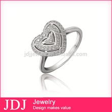 Fashionable Style Direct Wholesale Costume Jewelry China Engagement Heart Shaped Diamond Rings