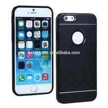 metal case for iphone 6,for iphone 6 aluminum phone case,aluminum bumper case inside soft TPU 4.7''