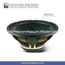 W107514 300W 10inch mid bass neodymium magnet speaker driver